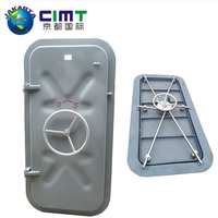 CCS marine weathertight watertight aluminum or steel door with hatch cover for ship