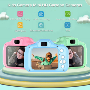 2 Inch HD Screen Chargable Digital Mini Camera Kids Cartoon Cute Camera Toys Outdoor Photography Props for Child Birthday Gift