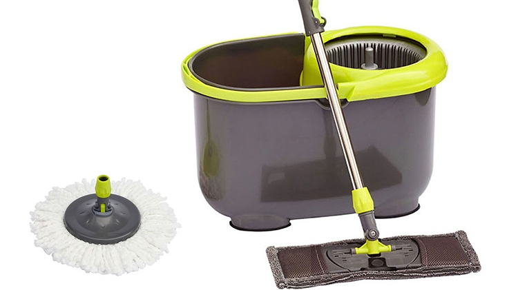 360 Round & flat easy cleaning microfiber mop bucket set
