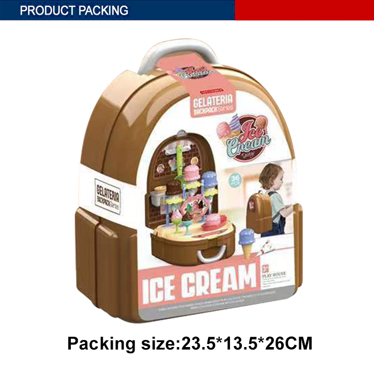 backpack design kids funny ice cream toy pretend play