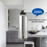 Manufacturer Supply 2000L Ultrafiltration Stainless Steel Water Purifier Water Treatment Water Filters Systems