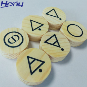 Wholesale Art Minds Pine Crafts Round Shapes Wood Label with Custom Sign symbol