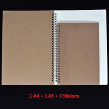 Спиральный дневник в горошек, квадрат, правило, пустая Опциональная крафт-бумага, три размера, 50 листов/100 страниц, дневник, альбом для рисова...(Китай)