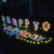 Light Up Happy Birthday Letters LED String lights Yard Sign for Outdoor Lawn Birthday Decoration