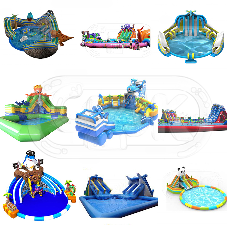 tropical china commercial inflatable water park for sale