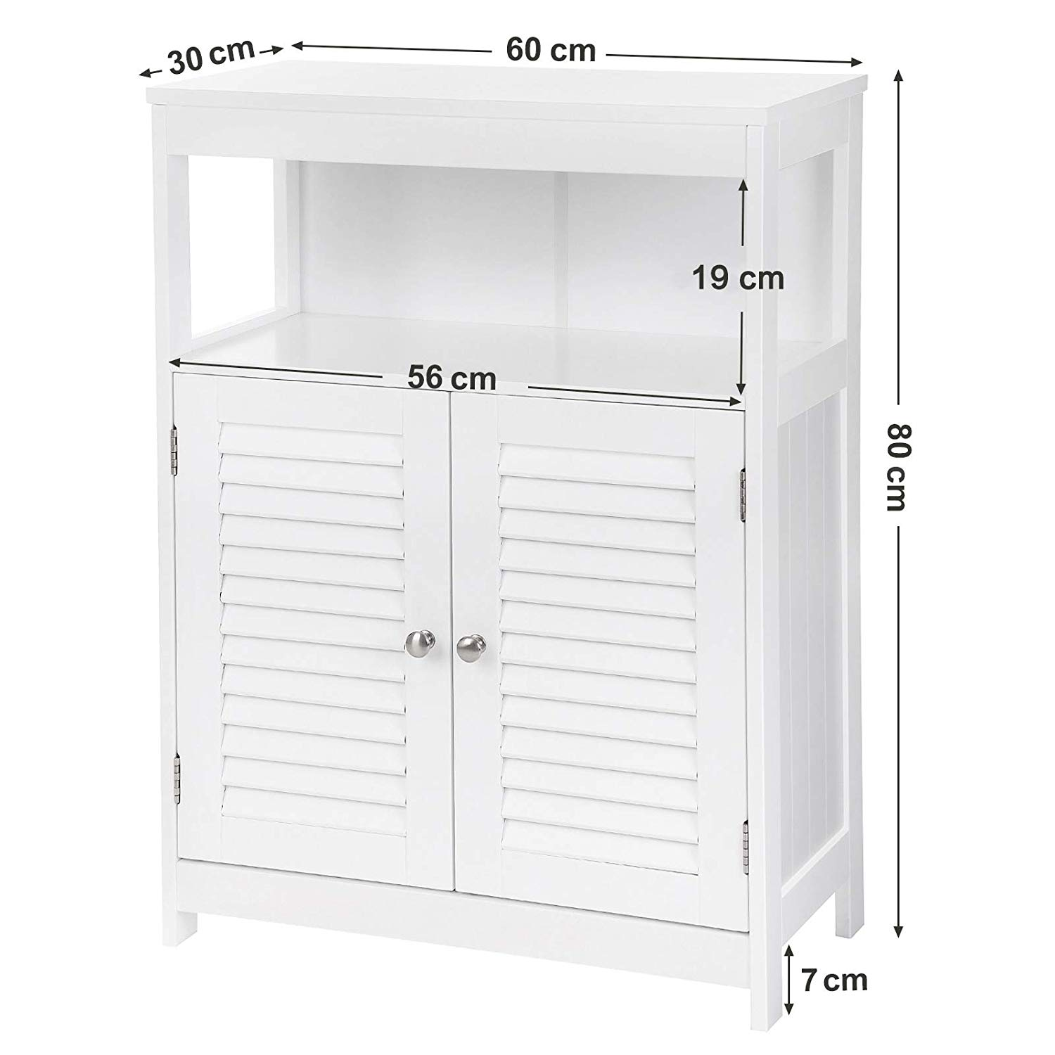 popular double doors wooden bathroom cabinet