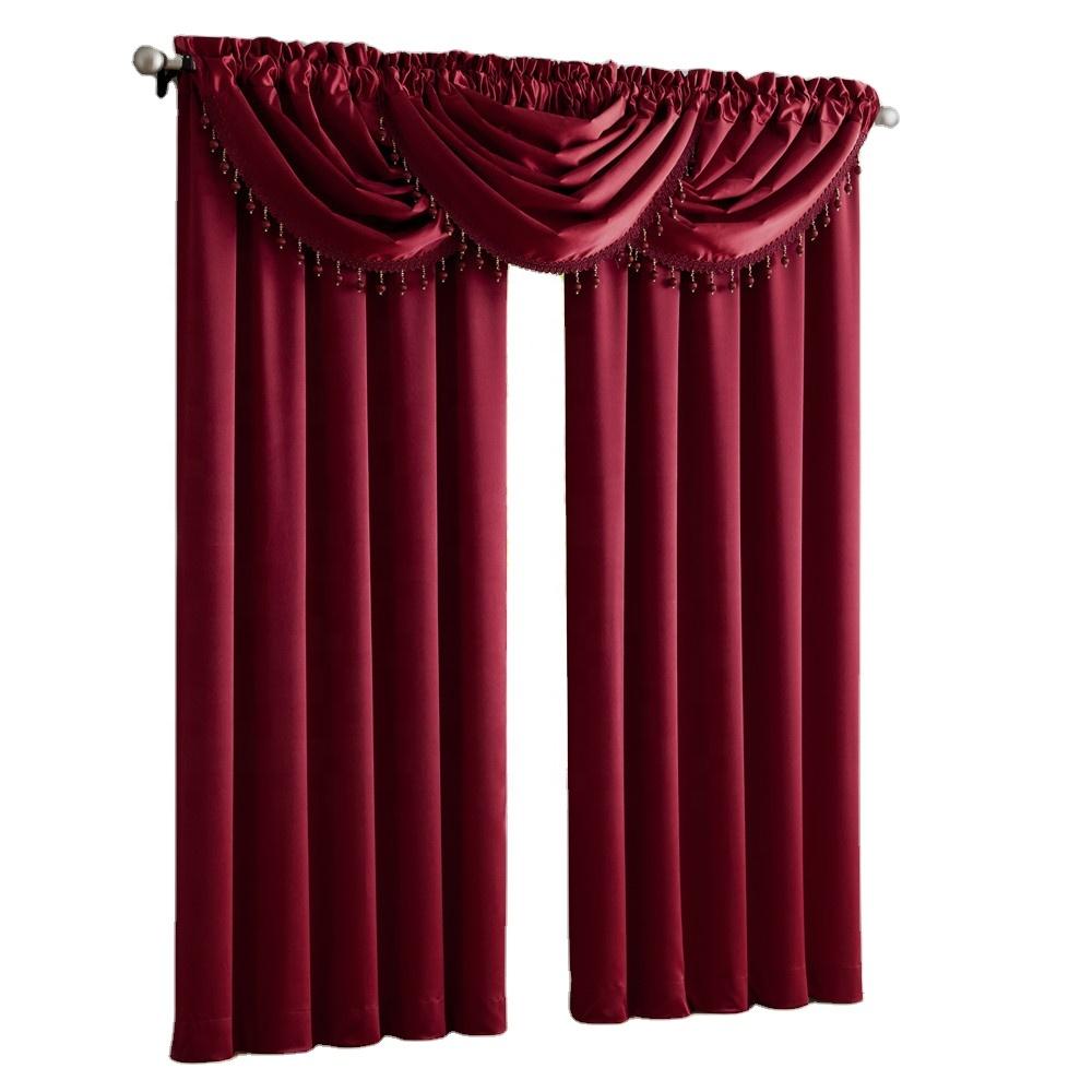 2020 yüksek kaliteli perdeler valances ile avrupa tarzı Cortinas seti oturma odası için lüks