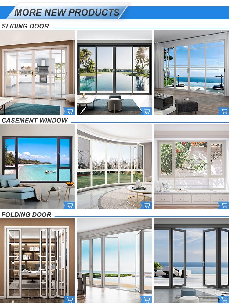 Modern design double glazed aluminium french casement window