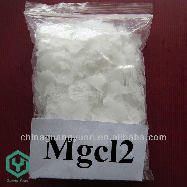 La tranquilidad de la sal de baño de magnesio cloruro de sodio