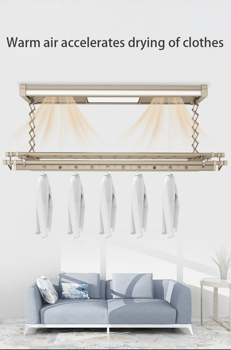Hot Selling Germicidal Lamp 304 Stainless Steel Electric Lift Drying Rack