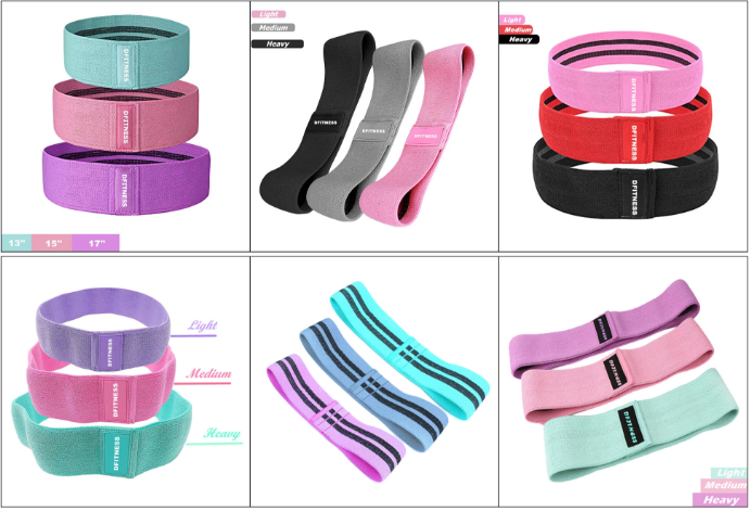 Strong Non slip hip circle band Durable glute band high elastic booty resistance band