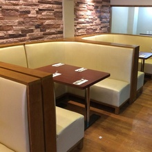 (SP-CS335) Custom made moderne lederen getuft button terug <span class=keywords><strong>restaurant</strong></span> banquette booth zitplaatsen