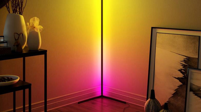 RGB floor lamp Living room bedroom bedside sofa led floor lamp simple rgb floor lamp