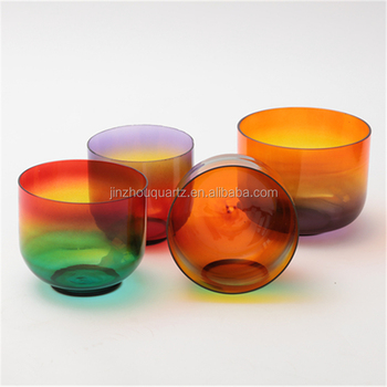 SUCCESS Supply Rainbow Color Quartz Crystal Frosted Singing Bowl Set