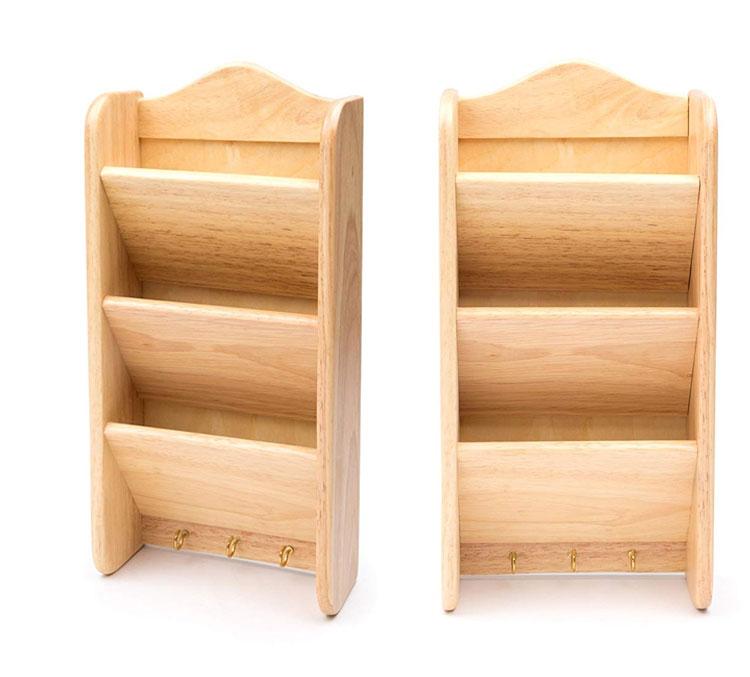 Bamboo Wood Letter Key Rack For Holding And Storing Keys 3