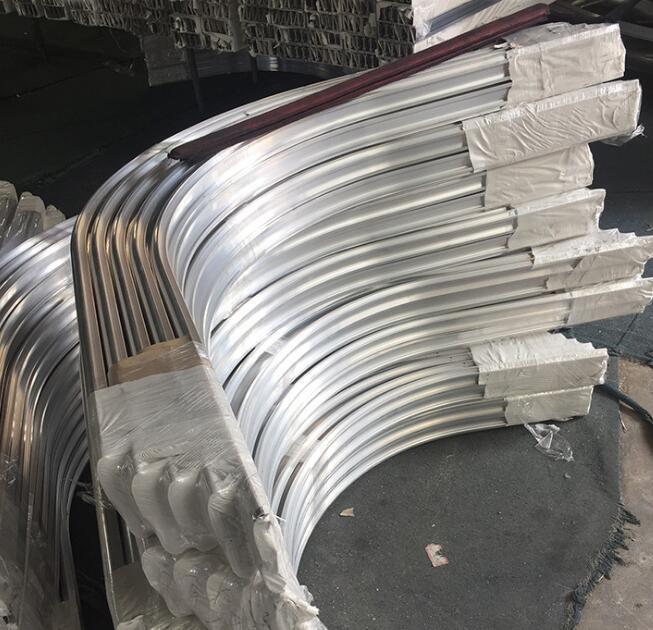 Custom Made Curved Aluminum Pipe/ Aluminum Cnc Machining Parts Bending Aluminum Tube