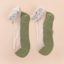 Сексуальные модные тюлевые носки, женские дышащие прозрачные ультратонкие сетчатые носки, летние женские носки, сексуальные черные коротк...(Китай)