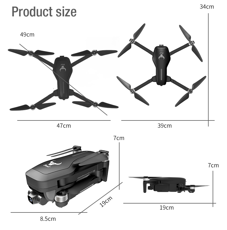 XUEREN SG906PRO Drone SG906 PRO 5G Wifi GPS Brushless 4K Mechanical Two-axle Anti-shake Gimbal GPS RC Quadcopter Drone