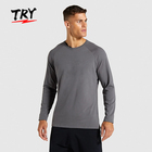 GT003 custom slim fit shirt mens gym clothes long sleeve fitness t shirt