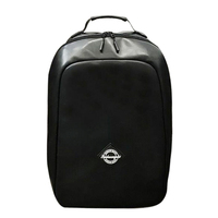 Wholesale men pu leather backpack black pu bags laptop backpack