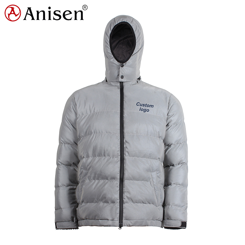 keep warm windproof waterproof plus size <strong>jacket</strong> 3M reflective down look puffer <strong>man</strong> <strong>winter</strong> reflective <strong>jacket</strong>