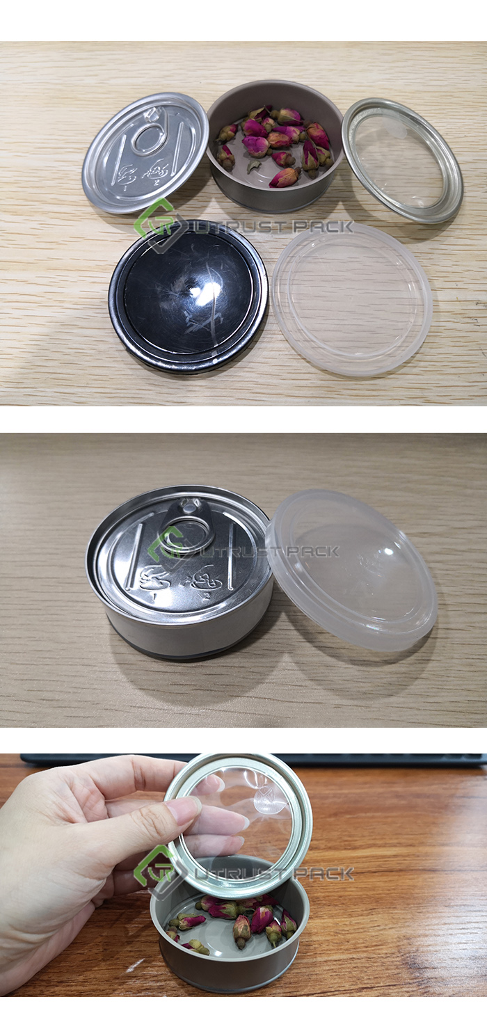 Mini Lata de 3.5g Ervas CBD 2 oz Alimentos Lata com Tampa De Plástico