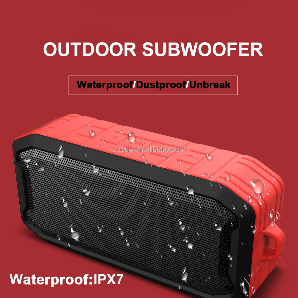 2020 New good bass sound  altoparlante Wireless TWS Portable IPX7 Mini Outdoor  Waterproof Bluetooth Speaker with fm radio