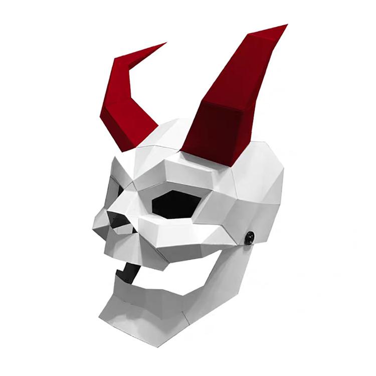 Ucuz altın tek kullanımlık göz 3d hayvan yüz kendi başına yap kağıdı levha kostüm partisi maskesi Masquerade