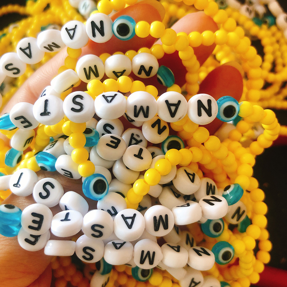 Creative DIY crystal bracelet handmade beaded letters HOPE bracelet manufacturers wholesale