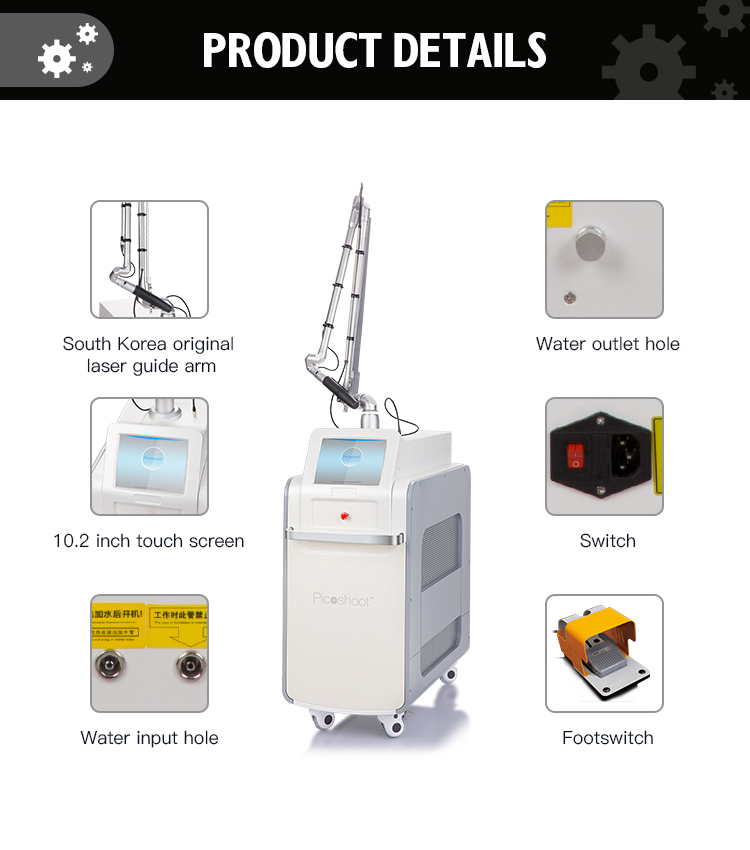 Beauty Device Distributor Pico Second/Picosure q-Switched Tattoo Removal Pico Laser