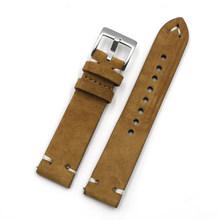 Замшевые часы 18 мм 20 мм 22 мм 24 мм быстросъемный ремешок для мужчин t винтажный ремешок для часов для мужчин и женщин толщина 4 мм(Китай)