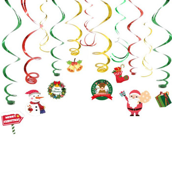Christmas Swirls Garland Foil Hanging Ceiling Decoration for Winter Wonderland Holiday Part