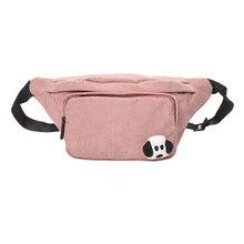 Вельветовая поясная сумка для женщин, новая дизайнерская холщовая поясная сумка, модная дорожная нагрудная Сумка-бананка для денег и телеф...(Китай)