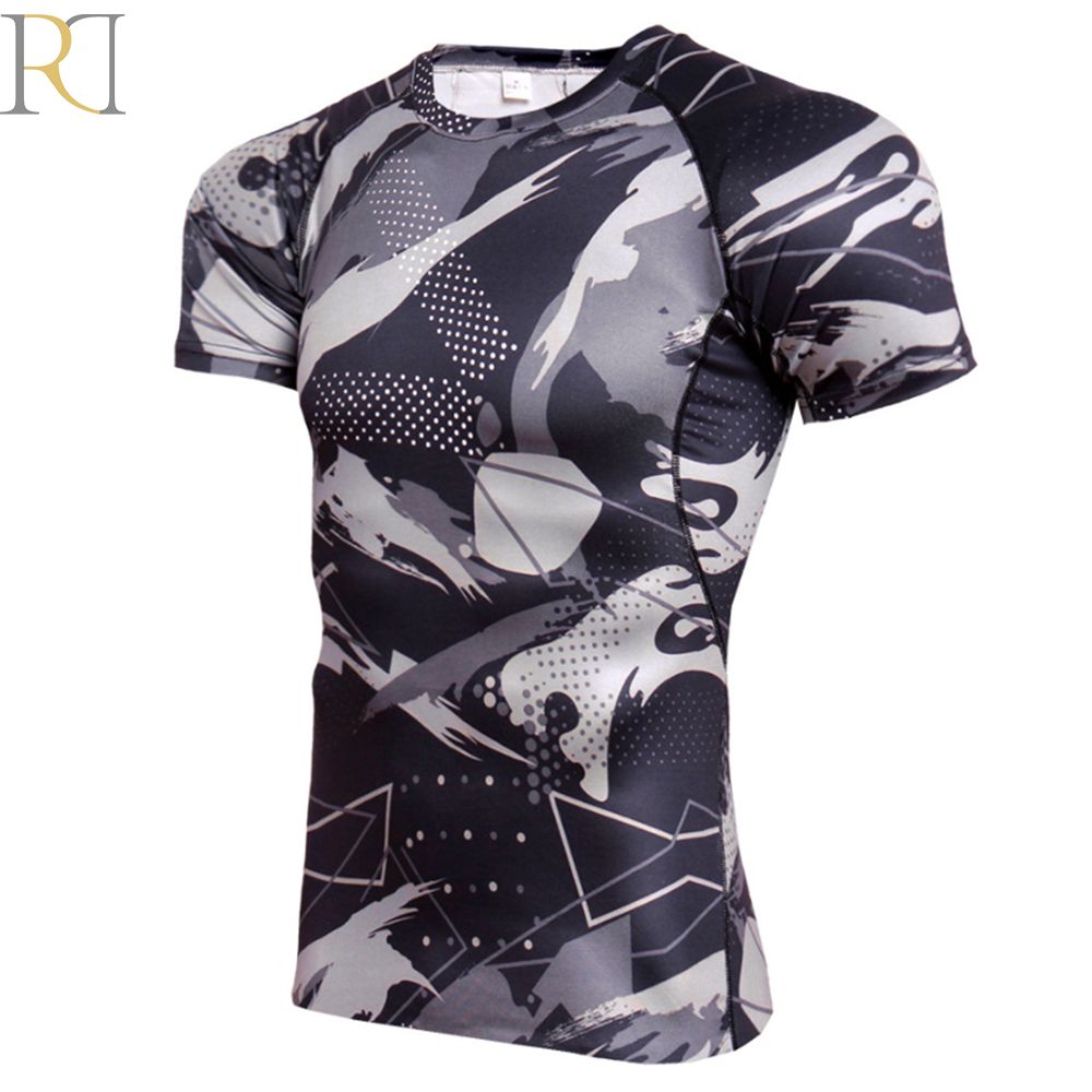 Hot selling aangepaste sport gym mens t shirt muscle fit