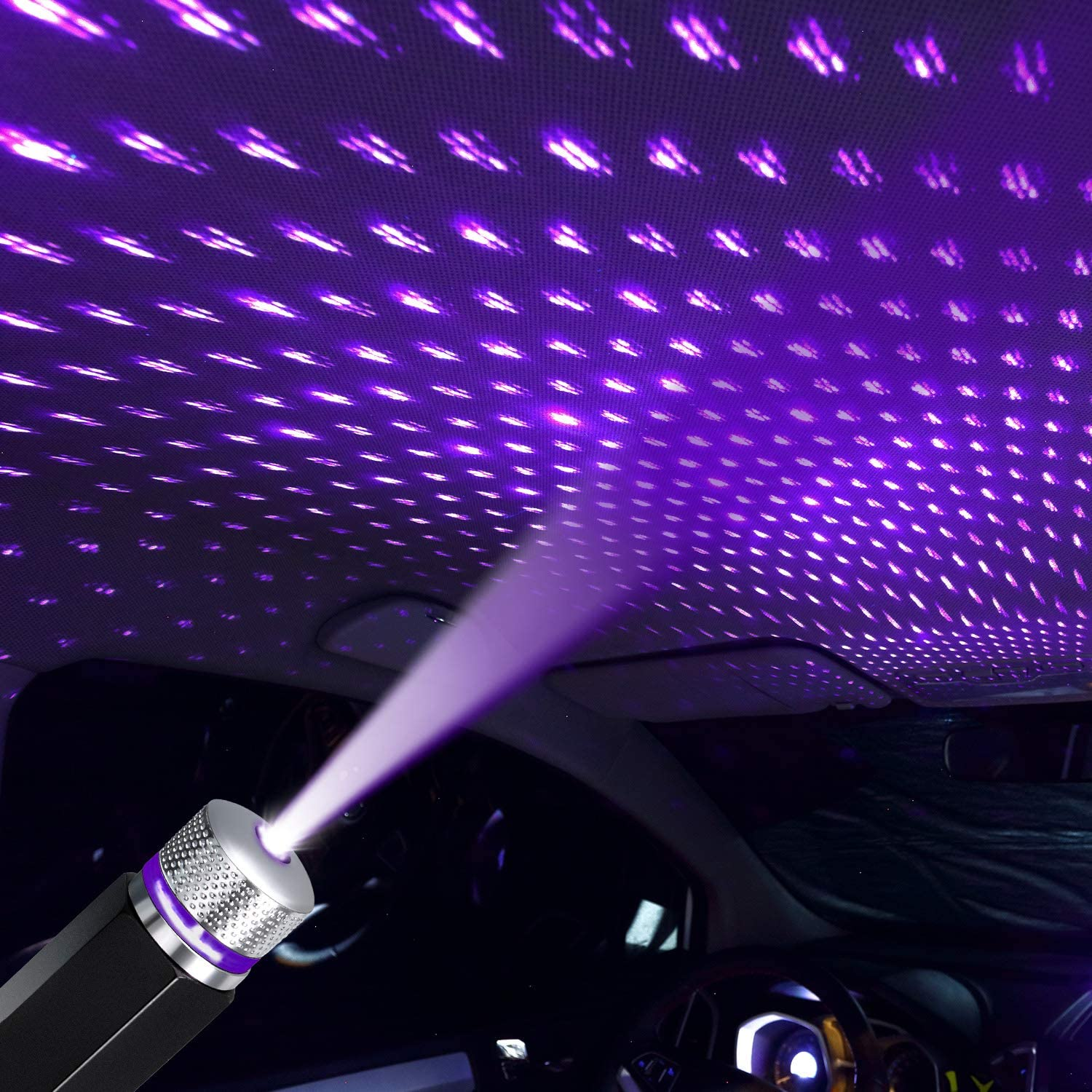 Universal USB LED Star Projector Neon Atmosphere Ambient Lamp Car Roof Interior Light laser