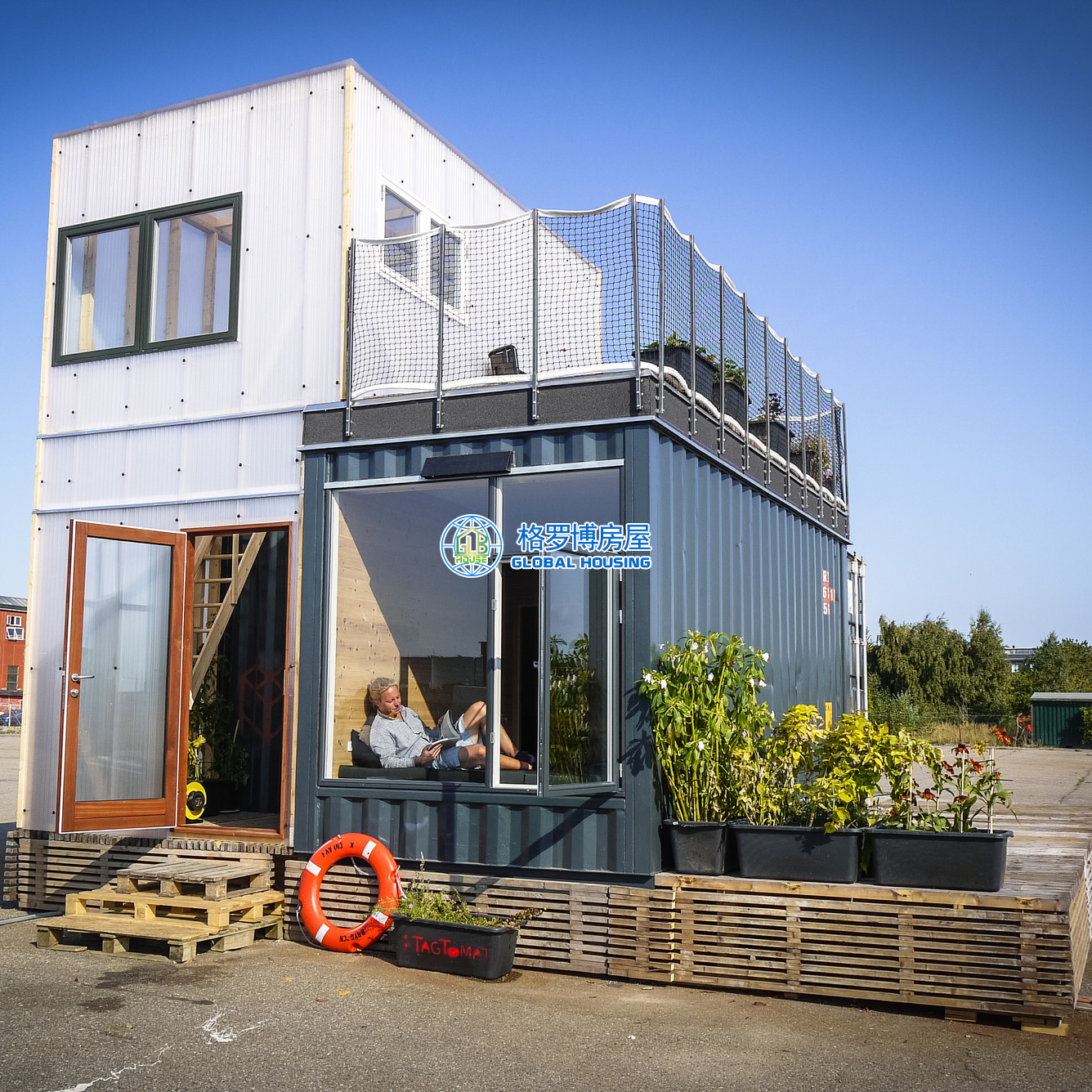Mobile kitchen container modular prefabricated finished prefab tiny house shipping container houses