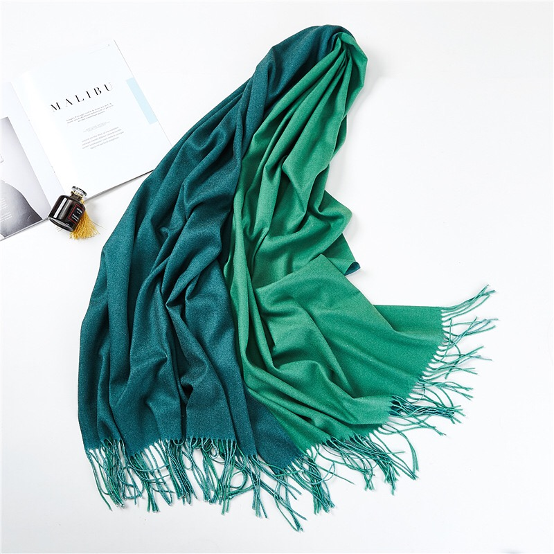 New Winter Double-sided Colors Women Tassel Scarf Spot Stock Spring Cashmmere Scarves Shawls