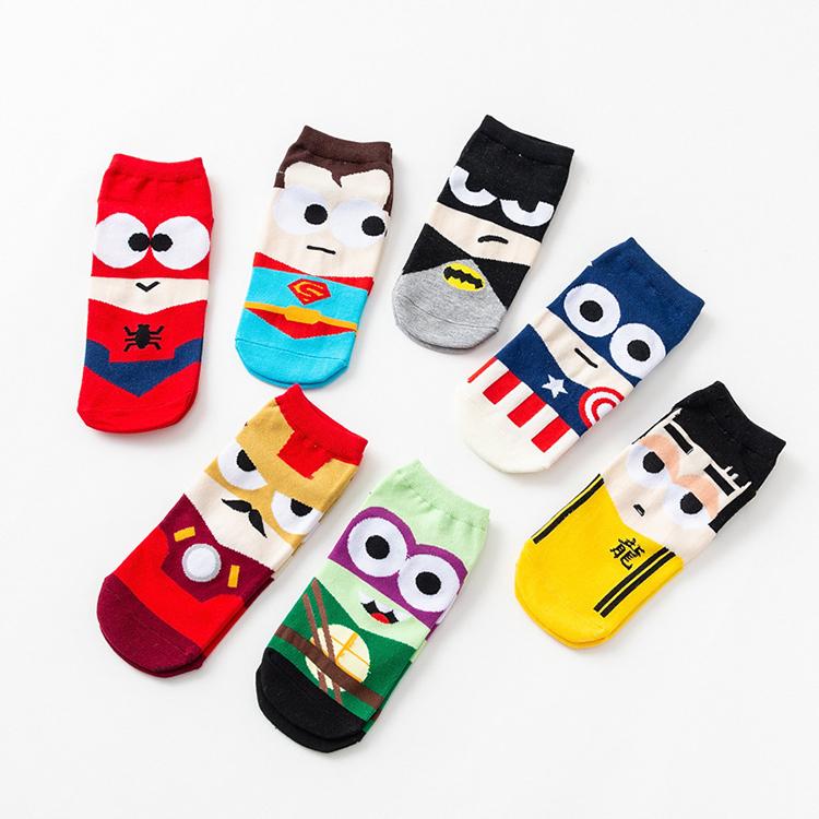 Summer Autumn Fashion Cartoon Funny Super Hero Socks For Men KYMA0026 фото