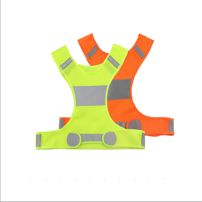 China factory wholesale hi vis en471 class 2 fluorescent yellow <strong>orange</strong> reflective mesh <strong>vest</strong> for outside night running safety