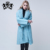 Hot Sale Spring Cashmere Trench Coat with Fox Fur Collar Women Fashion Trench