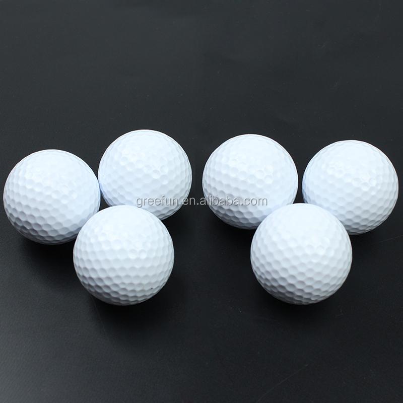 Premium Pallina Da Golf Personalizzato Stampa Il Vostro Marchio 2 Pezzi 3 Pezzi palla Morbida e di Elasticità Sentire Anti-Stress In Bianco palline da Golf