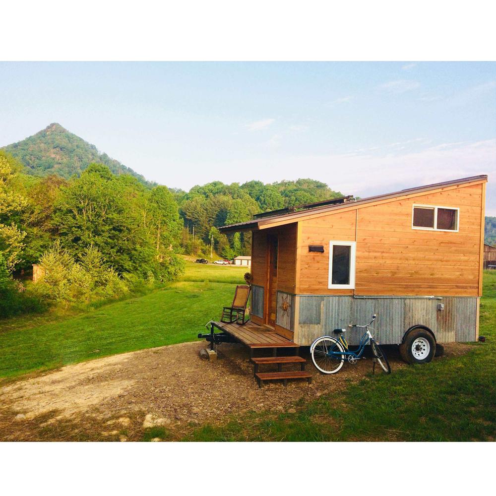 Передвижная сборная 1 спальная крошечная кабина/деревянный домик/бревенчатый домик для кемпинга крошечный домик на колесах
