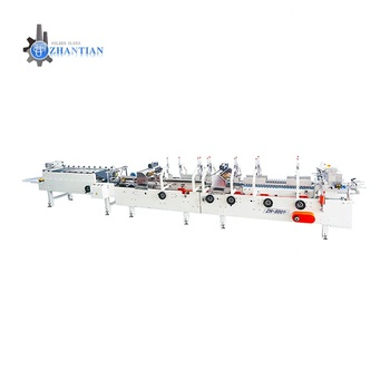 Hot selling low noise popcorn box manufacturing process flexo folder gluer machine