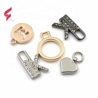 High-end custom Small brand logo engraved pendant custom metal charm jewelry tags engraved brand logo pendant for jewelry