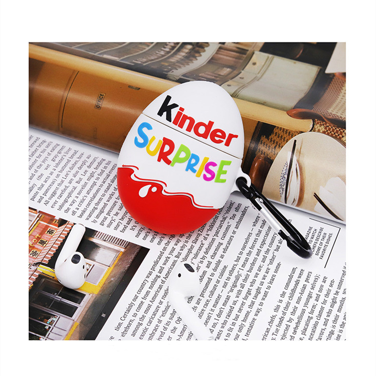 Cute Chocolate Egg Silicone Covers For Apple Airpod 2 Case For