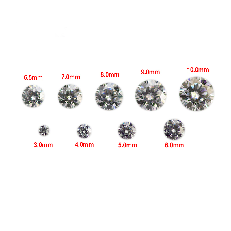 Loose Gemstone Wholesale Round Brilliant Cut Moissanite <strong>Diamond</strong> DEF Color Moissanite Stone Price Per Piece