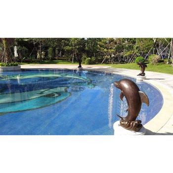 Indoor Outdoor Swimming Pool Decor Dolphin Water Fountain