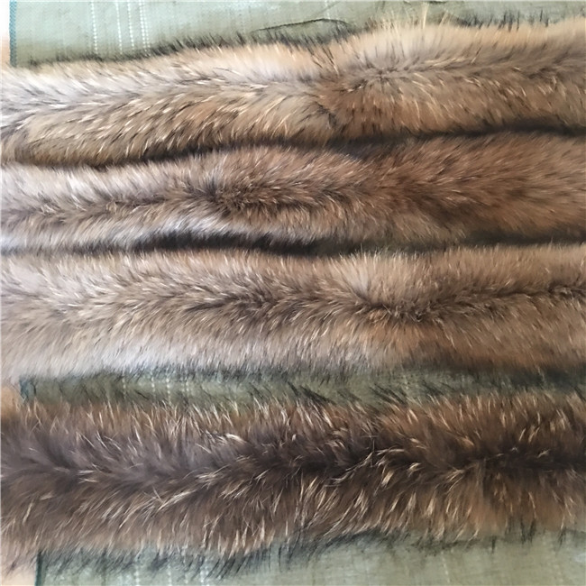 Red raccoon fur fur collar men and women