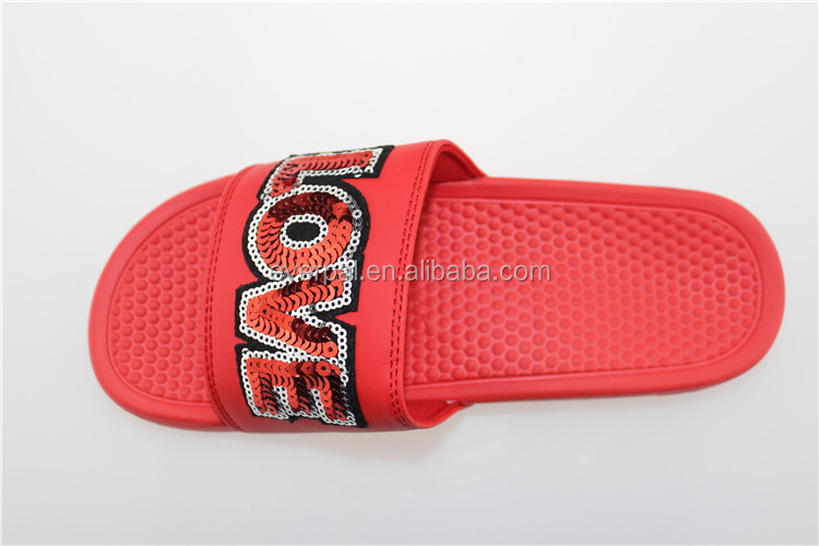 Stable Quality Red Massage Custom Slide Sandals