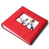 Fabric cover photo album with frame cover